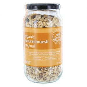 Muesli Natural Organic (Jar)