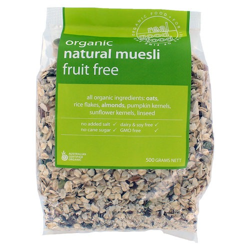 Muesli Fruit Free Organic (Bag)