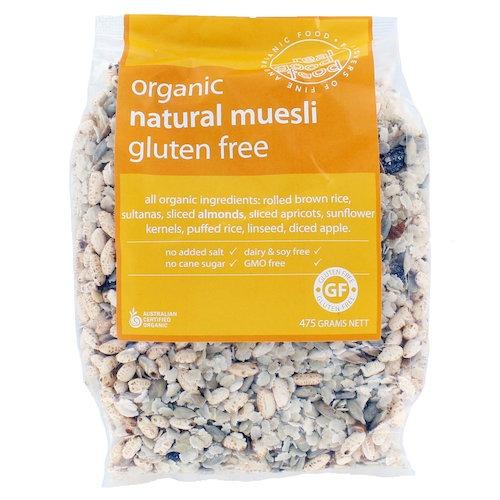 Muesli Natural Organic Gluten Free (Bag)
