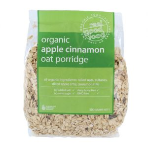 Porridge Oat Apple Cinnamon Organic (Bag)