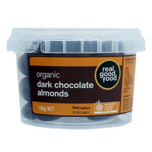 Almonds Choc Coated Dark Organic (Tub)